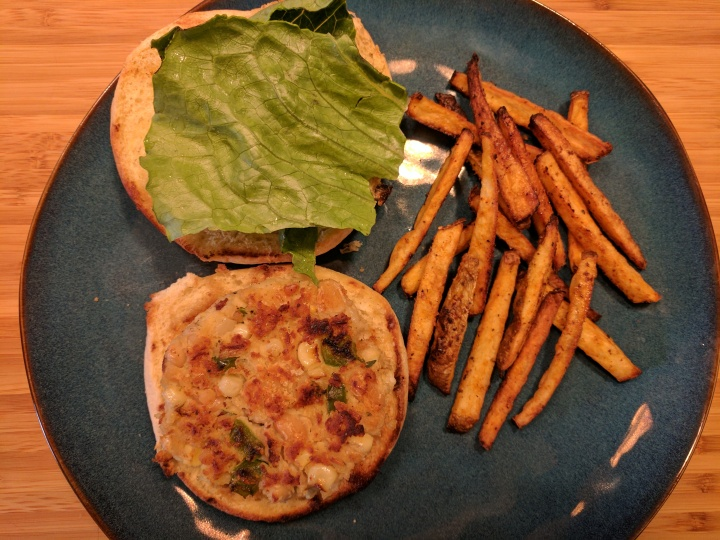 White Bean Veggie Burger with Coriander andThyme